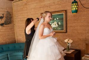 Green Room Bride