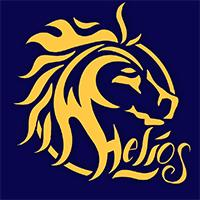 helios logo with stallion head