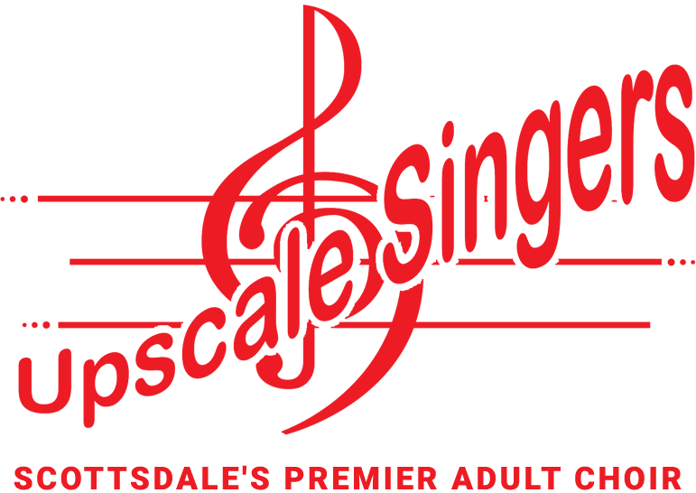 Upscale Singers logo with treble clef